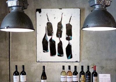 Bottles dance-acrylique sur toile-90x110cm