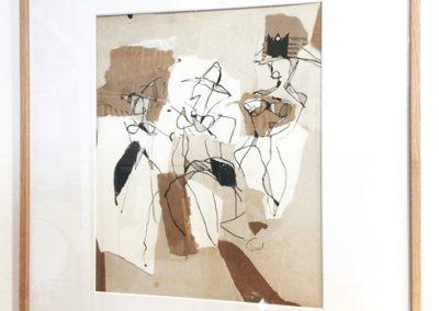 Women-encre et collage sur carton-40x50cm