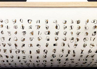 Litanies-Encre sur papier-Quadriptyque 80x240cm