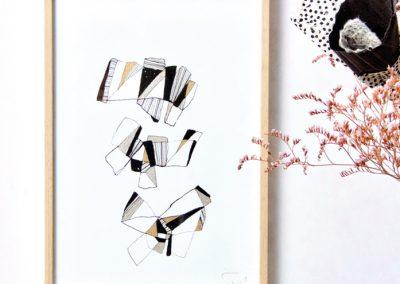 Litanies-Encre sur papier-20x30cm