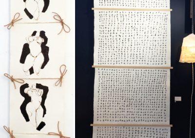 Venus-et-Litanies/encres sur papier/30x130cm-85x250cm