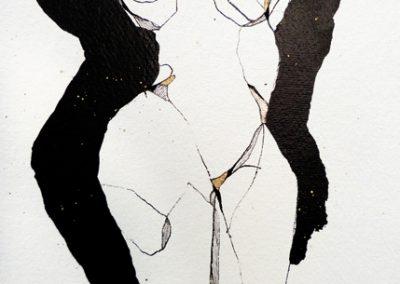 Venus-encre sur papier-détail
